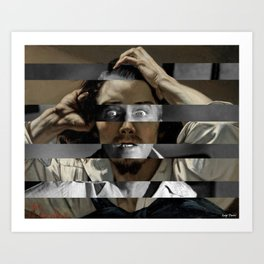 Courbet's The Desperate man & James Stewart Art Print