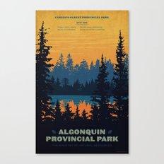 Algonquin Park Poster Canvas Print