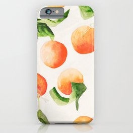Satsumas Watercolor Painting iPhone Case