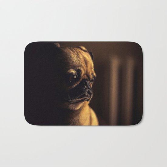 Cute Pug Dog Bath Mat