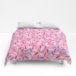 Pink Donut with Sprinkles Comforters