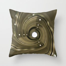 Modern spiral staircaise Throw Pillow