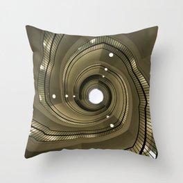 Modern spiral staircaise Throw Pillow