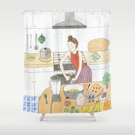 Kitchen Improvisation Shower Curtain