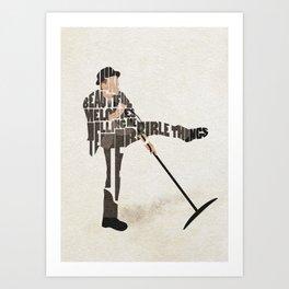 Typography Art of Tom Waits Art Print