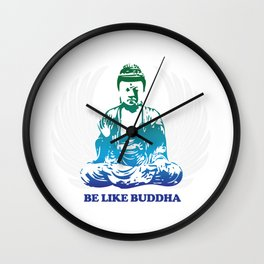 Buddha the moment of enlightenment Wall Clock