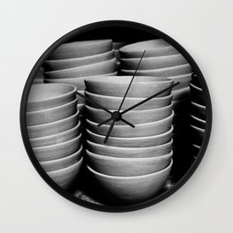 Pottery bowls Wall Clock