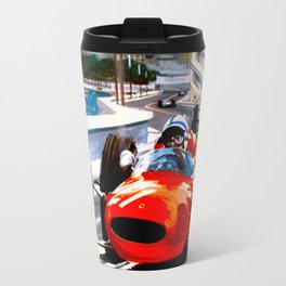 MONACO : Vintage Grand Prix Auto Racing Print Travel Mug