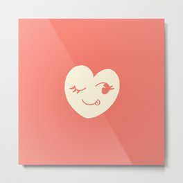 Cheeky Heart Metal Print