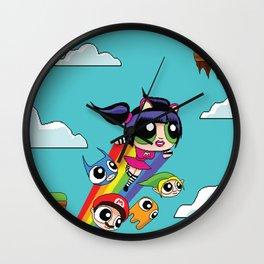 The Power Nyan Girl Wall Clock
