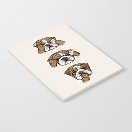No Evil English Bulldog Notebook
