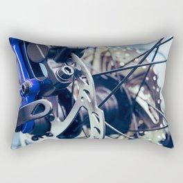 Close up of mountain bike gears Rectangular Pillow