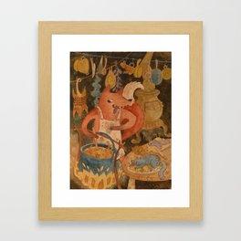 Fox Soup Framed Art Print