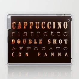 Coffee Types Poster Laptop & iPad Skin