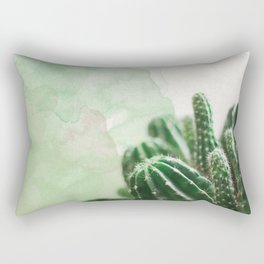 Cacti Green Watercolor Rectangular Pillow