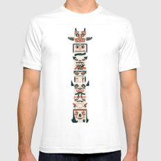 TOTEM POLE White Mens Fitted Tee MEDIUM