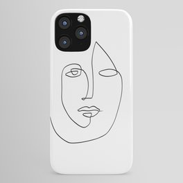 Abstract face One Line Art iPhone Case