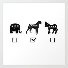 VOTE BOXER Art Print