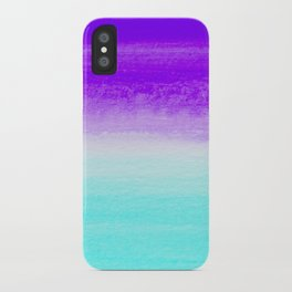 WHEN PURPLE MET BLUE iPhone Case