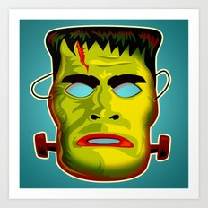 Frankenstein Monster Mask Art Print