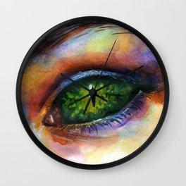 Reptile eye Wall Clock
