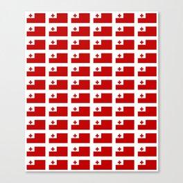 Flag of Tonga -Tonga,Tongatapu,Nukuʻalofa,Tongan,pa'anga,Vava'u, Ha'apai, Tongatapu. Canvas Print