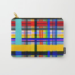 Gingham organic lines  Carry-All Pouch