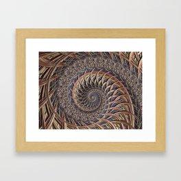 Spiral abstract Framed Art Print