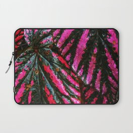 Red and Green Leaf Pattern Laptop Sleeve