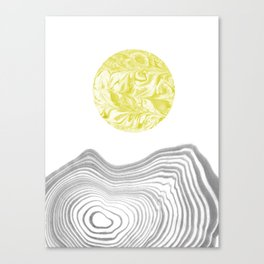 Tomo - spilled ink abstract modern swirl marble painting paint marbling japanese watercolor art Canvas Print