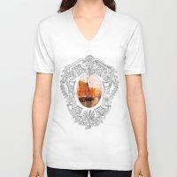 sail V-neck T-shirts featuring Sail by Iris V.