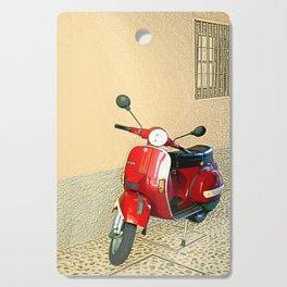 Vespa in Red Cutting Board