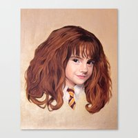 hermione Canvas Prints featuring Hermione by Shannon Forringer