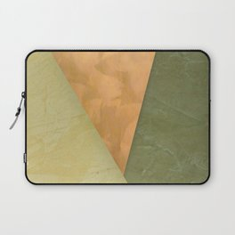 Golden Triangle With Green and Cream - Corbin Henry Color Field Laptop Sleeve
