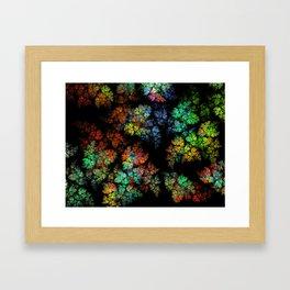 Leaves - fractal art Framed Art Print