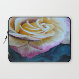 Pink and Yellow Rose painting Laptop Sleeve