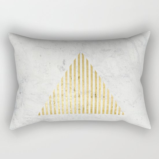 Trian Gold Rectangular Pillow