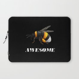 Be awesome - Bee awesome - realistic bee drawing Laptop Sleeve