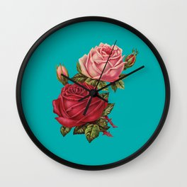 Floral Pop Wall Clock