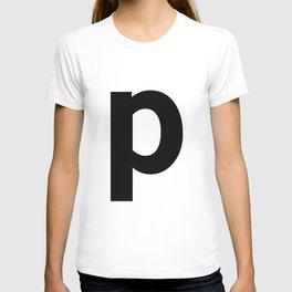 letter P (Black & White) T-shirt