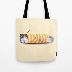 Cat in the paper Tote Bag