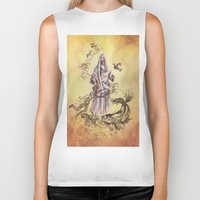 religious Biker Tanks featuring Jesus Christ and Religious Symbols by Sonya ann