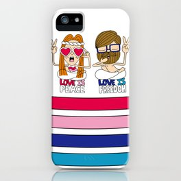 LOVEISPEACE&FREEDOM iPhone Case