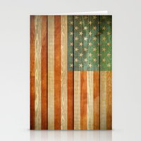 american flag Stationery Cards featuring American Flag by JobiJu