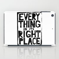 radiohead iPad Cases featuring Everything in Its Right Place - Radiohead by Bastien13