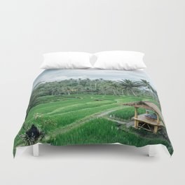 Ricefield in Ubud, Bali Duvet Cover