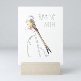 Running With Scissors (Scissor-tailed Flycatcer) Mini Art Print