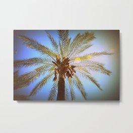 High Rise Palm Metal Print