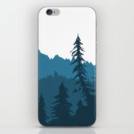 Tree Gradient Blue iPhone Skin