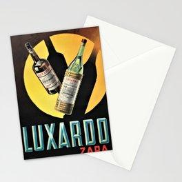 1945 Cherry Brandy Luxardo Zara Aperitif Alcoholic Beverage Advertisement Vintage Poster Stationery Cards